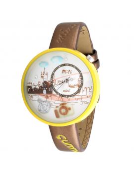 Orologio MINI WATCH 3D ref. MN861 Donna in pelle marrone